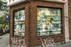 蒙特利尔唐人街商店显示 免版税图库摄影