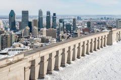 蒙特利尔地平线冬天 图库摄影