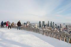 蒙特利尔地平线冬天 免版税图库摄影