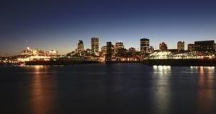 蒙特利尔地平线在晚上 图库摄影