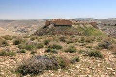 蒙特利尔城堡在Shawbak,约旦 图库摄影