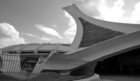 蒙特利尔奥林匹克体育场和塔 免版税图库摄影