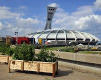 蒙特利尔奥林匹克体育场和塔 库存照片