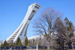 蒙特利尔奥林匹克体育场和塔 库存图片