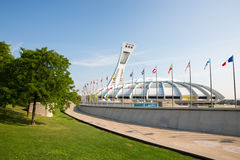 蒙特利尔奥林匹克体育场 库存图片