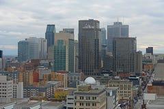蒙特利尔市地平线,魁北克,加拿大 库存照片