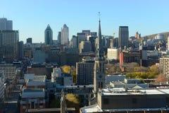蒙特利尔市地平线,魁北克,加拿大 免版税库存图片