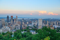 蒙特利尔市地平线 免版税库存图片