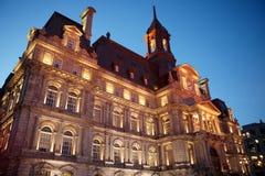 蒙特利尔市政厅 库存照片
