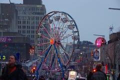 蒙特利尔庆祝与一个大有启发性轮子 免版税库存图片