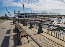 蒙特利尔旧港口 库存图片