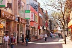 蒙特利尔的唐人街 免版税库存图片