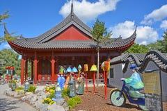 蒙特利尔的植物园 库存图片