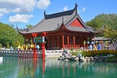 蒙特利尔的植物园 免版税库存图片