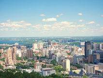 蒙特利尔看法从Mont皇家的,魁北克,加拿大 库存图片