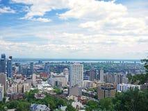蒙特利尔看法从Mont皇家的,魁北克,加拿大 库存照片