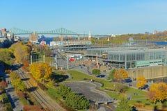 蒙特利尔科学中心在老蒙特利尔,魁北克,加拿大 免版税图库摄影