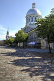 蒙特利尔老保罗圣徒街道 库存图片