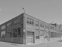 蒙特利尔老工厂厂房 免版税库存照片