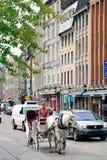 蒙特利尔街道视图 免版税库存照片