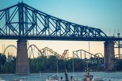 蒙特利尔魁北克加拿大雅克・卡蒂埃桥梁  免版税图库摄影