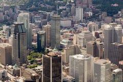 蒙特利尔鸟瞰图 免版税库存图片