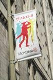 蒙特利尔麦吉尔路牌 免版税库存照片