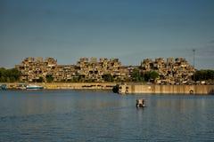 蒙特利尔,加拿大- 2017年9月14日:栖所67是一个住宅群在蒙特利尔354相同,预制的混凝土形式arra 库存图片