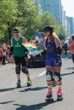 蒙特利尔,加拿大- 2013年8月, 18 -同性恋自豪日游行 库存图片
