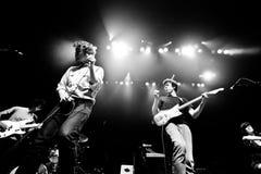 蒙特利尔,加拿大- 2013年5月23日:镭在音乐会的镭暴乱在大都会。 免版税图库摄影