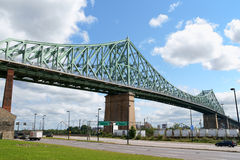 Jacques Cartier桥梁 库存图片