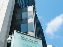 蒙特利尔,加拿大 05-24-2018 蒙特利尔证券交易所塔,加拿大 库存照片