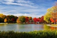 蒙特利尔,秋天,魁北克加拿大 库存照片