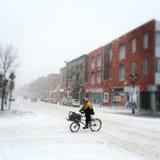 蒙特利尔,魁北克,加拿大-暴风雪 免版税库存图片