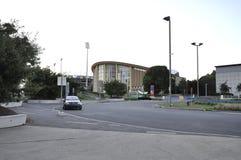 蒙特利尔, 6月27日:公园奥林匹克从蒙特利尔在魁北克加拿大省 免版税库存图片