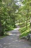 蒙特利尔, 6月27日:皇家山Alee公园从蒙特利尔的魁北克省的 图库摄影
