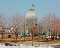 蒙特利尔 魁北克 结构 修筑河火轮的码头 免版税库存照片