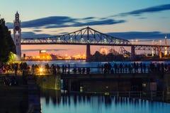 蒙特利尔` s旧港口 免版税图库摄影
