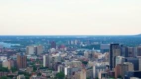 蒙特利尔fron街市的看法Mont皇家 库存照片
