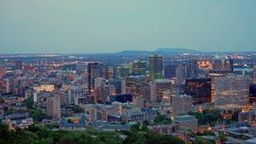 蒙特利尔fron街市的看法Mont皇家 库存图片