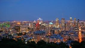 蒙特利尔fron街市的看法Mont皇家 免版税库存照片