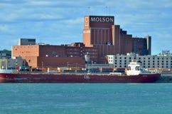 蒙特利尔Molson工厂 免版税图库摄影