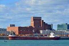 蒙特利尔Molson工厂 免版税库存照片