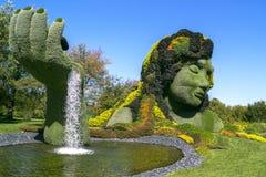蒙特利尔Mosaicultures 库存图片