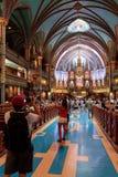 蒙特利尔Notre Dame大教堂  免版税库存照片