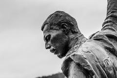 蒙特勒,瑞士欧洲- 9月15日:弗雷迪雕象  库存图片