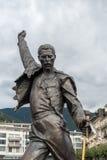 蒙特勒,瑞士欧洲- 9月14日:弗雷迪雕象  库存照片