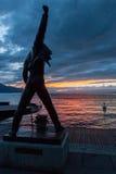 蒙特勒,瑞士欧洲- 9月14日:弗雷迪雕象  免版税库存照片