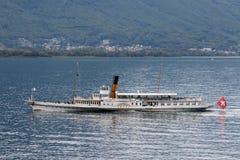 蒙特勒,瑞士欧洲- 9月15日:蒸alo的沃韦 免版税库存图片