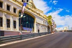 蒙特卡洛/摩纳哥- 2013年6月02日:摩纳哥的街道使用了为 免版税库存图片